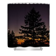 Eclipse In Yosemite Shower Curtain