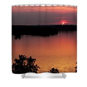Eclipse Of The Sunset Shower Curtain