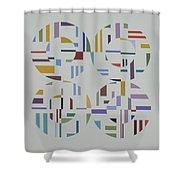 Ecliptic #1 Shower Curtain