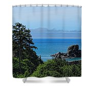 Ecola State Park Overlook  Shower Curtain