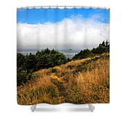 Ecola Trails Shower Curtain