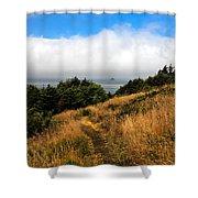 Ecola Trails Shower Curtain