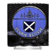 Ecurie Ecosse Badge Shower Curtain