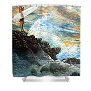 Eddie Aikau Shower Curtain