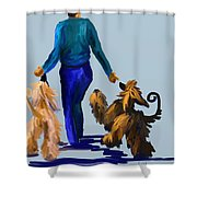 Eddie Dancing With Dogs Shower Curtain