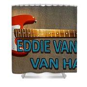 Eddie Van Halen Guitar Shower Curtain