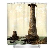 Eddystone Lighthouse Plymouth England Shower Curtain