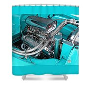 Edelbrock In A Chevy 3100 Hotrod Shower Curtain