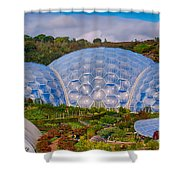 Eden Project Biomes Shower Curtain