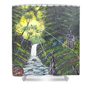 Eden's Bridge Shower Curtain