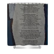 Eden's Womb Poem Collage Shower Curtain