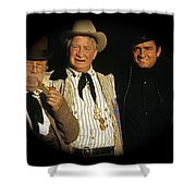 Edgar Buchanan Chills Wills  Johnny Cash Porch Old Tucson Arizona 1971-2008 Shower Curtain