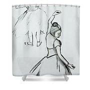 Edgar's Dancers Shower Curtain