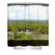 Edge Of Mississippi River Shower Curtain