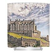 Edinburgh Castle Painting Shower Curtain