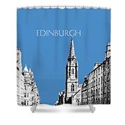Edinburgh Skyline The Royal Mile - Slate Shower Curtain