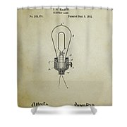 Edison Electric Lamp Patent 3 -  1882 Shower Curtain