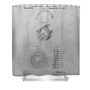 Edison's Electric Generator Patent Drawing Shower Curtain