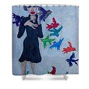 Edith Piaf  The Little Sparrow Shower Curtain