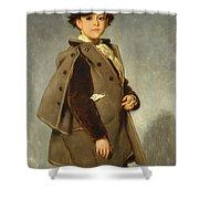 Edmond Dehodencq Wearing An Inverness Cape Shower Curtain