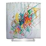 Education 1 Shower Curtain by David Baruch Wolk