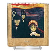 Edvard Munch 2 Shower Curtain