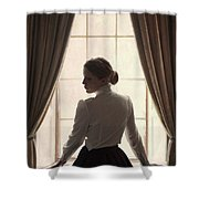 Edwardian Woman At The Window Shower Curtain