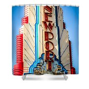 Edwards Big Newport Theatre Sign In Newport Beach Shower Curtain