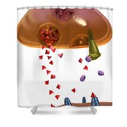 Effect Of Heroin On Neurons Shower Curtain
