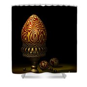 Egg And Marbles Shower Curtain