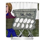 Egg Crate Shower Curtain