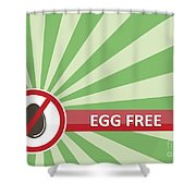 Egg Free Banner Shower Curtain