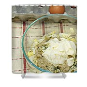 Egg Salad Ingredients Shower Curtain