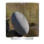 Egg-shaped Stone Shower Curtain