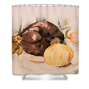 Eggplant Shower Curtain