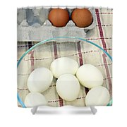 Eggs Boiled And Raw Shower Curtain