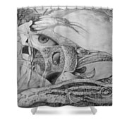 Ego-bird-fish Nesting Ground Shower Curtain by Otto Rapp