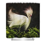 Egret 12 Shower Curtain