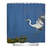 Egret Landing Shower Curtain