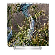 Egret Statue Shower Curtain