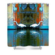 Egrets Nest In A Palace Shower Curtain
