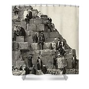 Egypt: Pyramid Tourists Shower Curtain