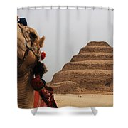 Egypt Step Pyramid Saqqara Shower Curtain