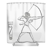 Egyptian Archer And Quiver.  From The Imperial Bible Dictionary, Published 1889 Shower Curtain
