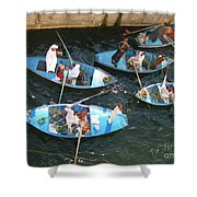 Egyptian Entrepreneurs At The Canal Locks Shower Curtain