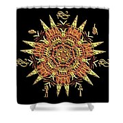 Egyptian - Fractal Shower Curtain