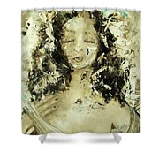 Egyptian Goddess Shower Curtain by Laurie Lundquist