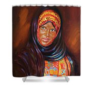 Egyptian Nubian Girl Shower Curtain