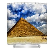 Egyptian Pyramid Shower Curtain