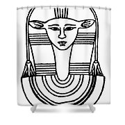Egyptian Symbol Hathor Shower Curtain